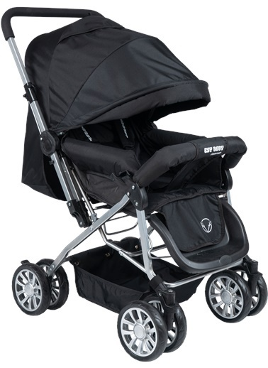ESY LİNE Esy Line Çift Yönlü Bebek Arabası Gümüş-Gri  Gümüş